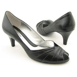 Naturalizer Akin Black Peep Toe Heels